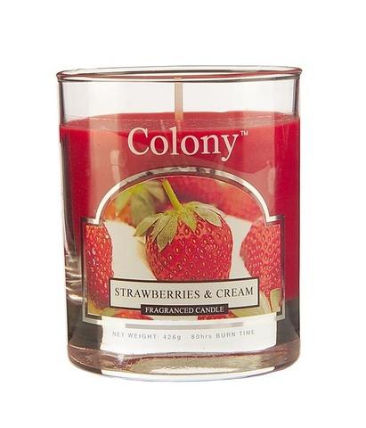 Свеча ароматическая в стеклянной банке Сочная клубника, Wax Lyrical