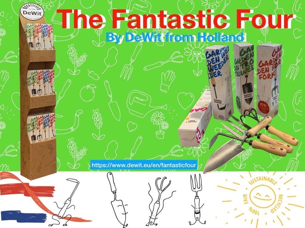 Совок садовый 3000 DeWit в подарочной коробке Fantastic Four