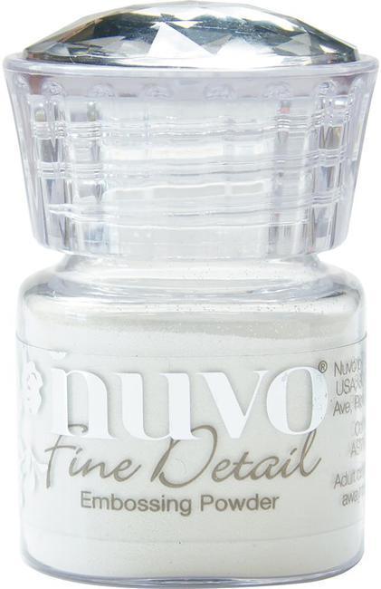 Пудра для эмбоссинга NUVO - glacier white - detail