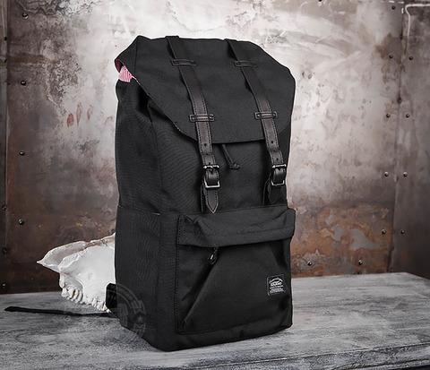 Мужской тканевый рюкзак черного цвета