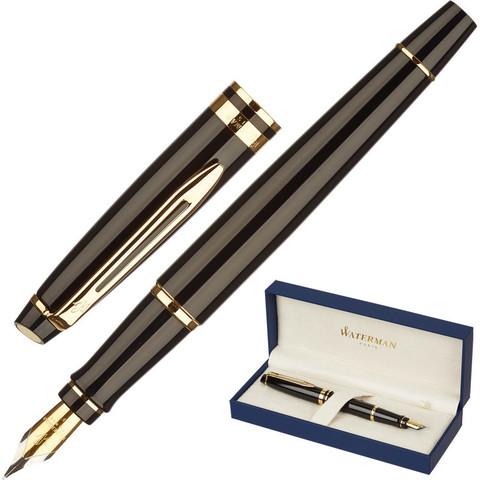 Ручка перьевая WATERMAN EXPERT S0951640 черн. корп, син чернила 0,5мм Франц