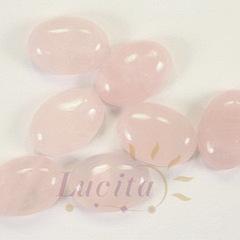 Кабошон овальный Кварц розовый, 18х13 мм