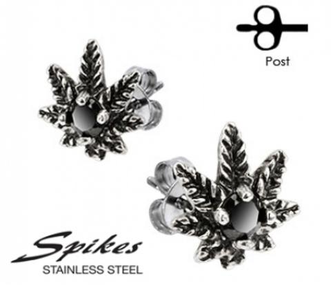 SSEM-140 Серьги &#34Spikes&#34 из ювелирной стали