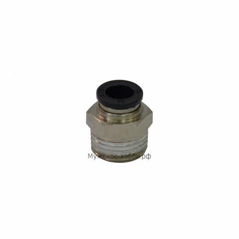 Соединитель быстросъемный с внешней резьбы 10 мм на кламп 0,5