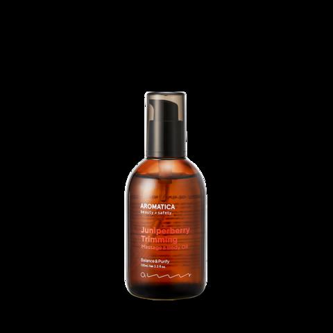 Массажное масло с можжевельником для лица и тела, 100 мл / Aromatica Juniper Berry Trimming Massage & Body Oil