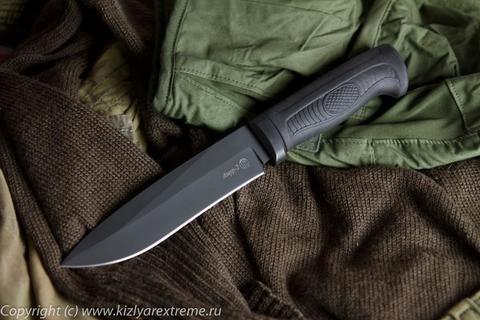 Тактический нож Амур-2 Черный Эластрон z90