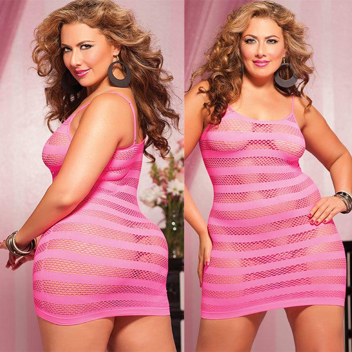 БОЛЬШИЕ размеры: Платье увеличенного размера в полоску