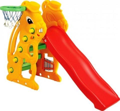 Детская горка «Заяц» + баскетбольное кольцо SL-07