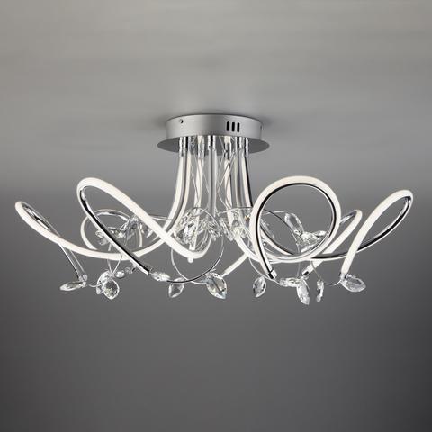 Светодиодный потолочный светильник с хрусталем 90106/7 хром