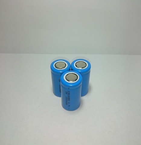 Аккумулятор ICR18350 Li-ion 1000mAh 3,7V 3,7Wh