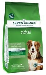 Сухой корм для взрослых собак, Arden Grange adult lamb & rice, с ягненком и рисом