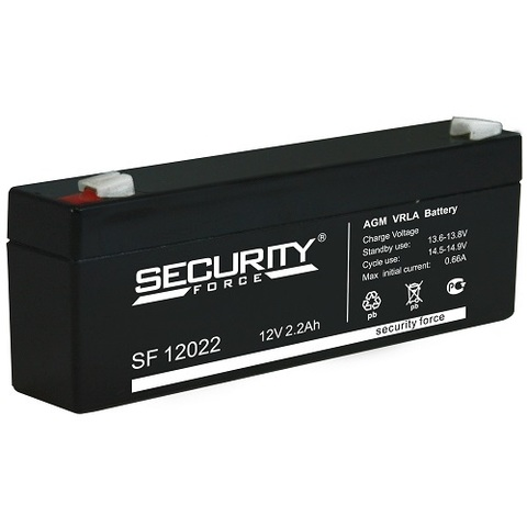 SF 12022 аккумулятор 12В/2,2Ач Security Force