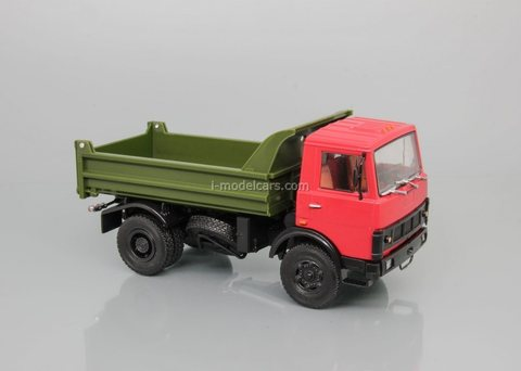 MAZ-5551 dump truck red-khaki 1:43 DeAgostini Auto Legends USSR Trucks #31