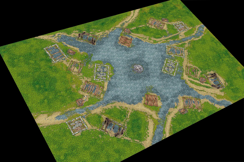 Игровое покрытие Age of Kings 120x180 см
