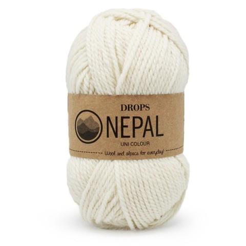Пряжа Drops Nepal 0100 молочный