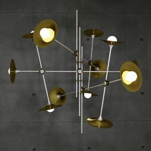 Bullarum ST-12 Chandelier with Discs By Krisztian Mecs for Intueri Light