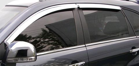 Дефлекторы окон (хром) V-STAR для Opel Insignia Tourer 08 (CHR18145)