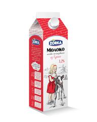 """Молоко """"Zorka"""" 3,2%  900мл"""