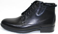 Зимние кожаные ботинки мужские Ikoc 2678-1 S
