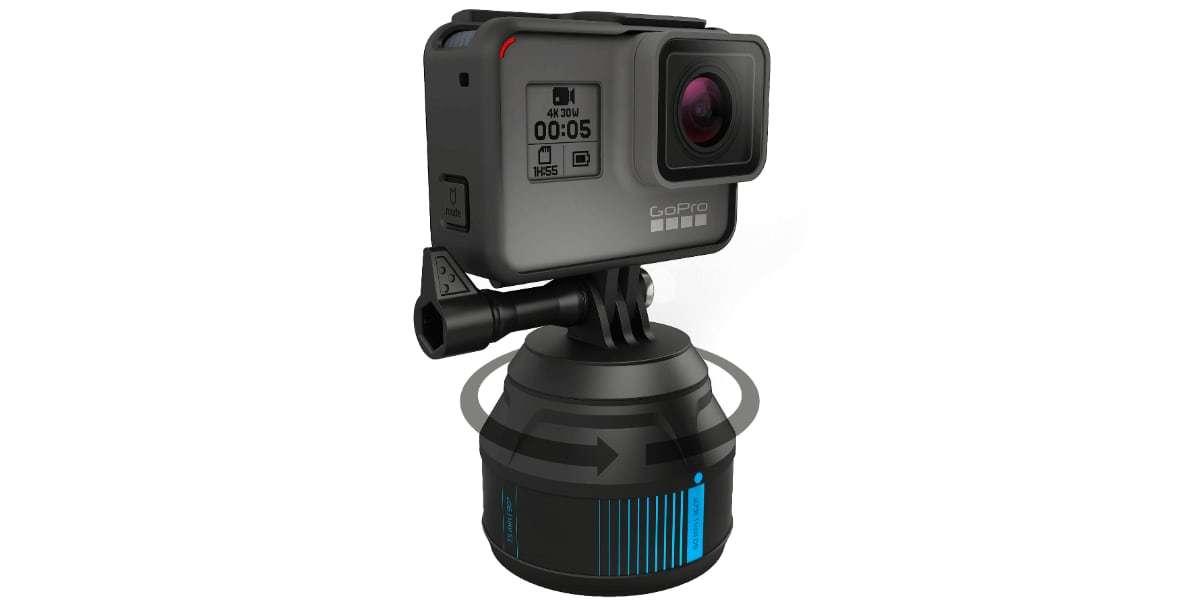 Вращающаяся платформа GoPole Scenelapse 360° вращается с камерой
