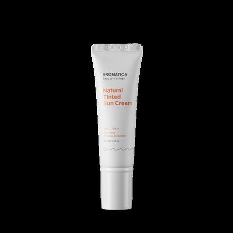 Оттечночный солнцезащитный крем с маскирующим эффектом SPF30/PA++, 70 г / Aromatica Natural Tinted Sun Cream Light Beige