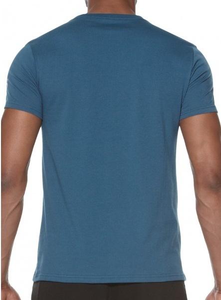Мужская спортивная футболка Asics Camou Logo SS Top (131529 0053) синяя фото