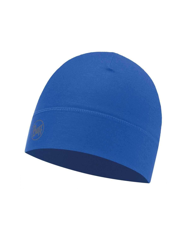 Тонкая спортивная шапка Buff Hat 1 layer polyester Solid Cape Blue