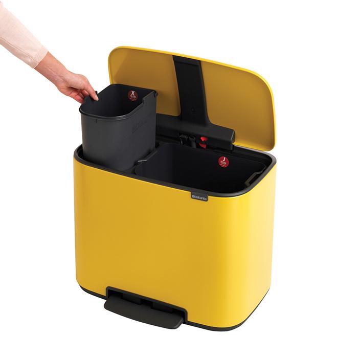 Мусорный бак Bo  (11 л + 23 л), Желтая маргаритка, арт. 121180 - фото 1