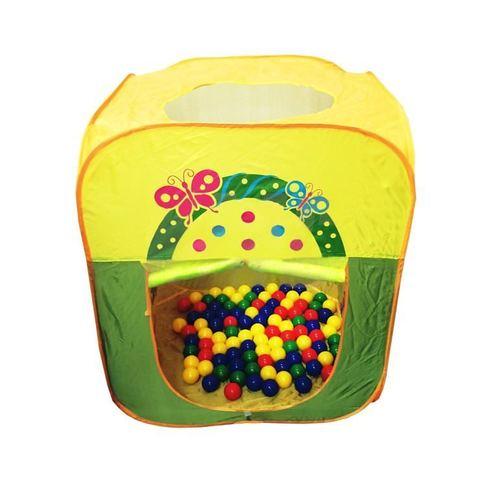 Домик игровой «Квадратный» + 100 шариков CBH-21