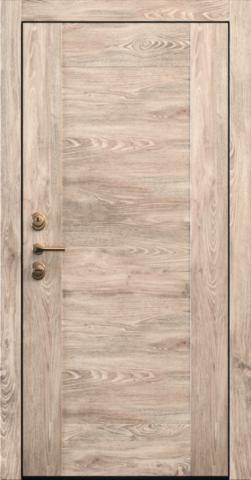 Входная дверь «Quadro 1» в цвете, Дуб натур (натуральный шпон)