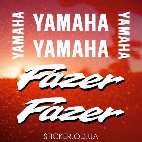 Набор виниловых наклеек на мотоцикл YAMAHA FZS600 FAZER 2001