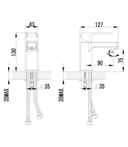 Lemark plus Grace Смеситель для умывальника монолитный (LM1506C)