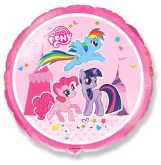 Шар F (18''/46 см) Круг Пони / Pony, 1 шт.