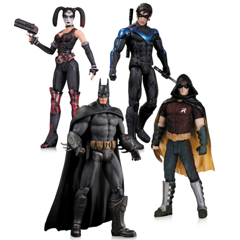 Набор фигурок Харли Квинн, Бэтмен, Найтвинг, Робин - Аркхем Сити, DC Collectibles
