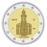 Германия 2015 год 2 евро Гессен двор F   UNC из ролла, Федеральные земли Германии