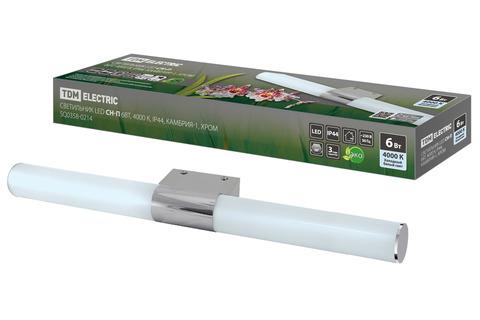 Светильник LED CH-П 6Вт, 4000 К, IP44, Камбрия-1, хром TDM