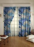 Готовая штора. Портьера с печатным абстрактным рисунком Troyes