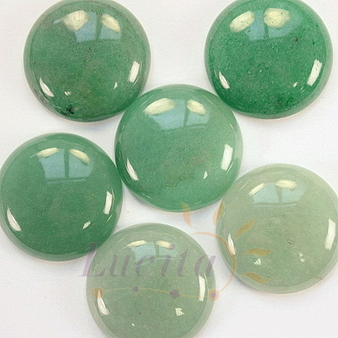 Кабошон круглый Авантюрин зеленый, 30 мм