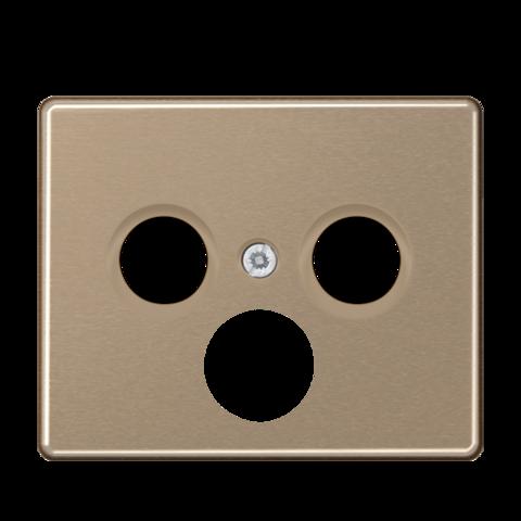 Накладка  тройная для антенных розеток. Цвет Золотая бронза. JUNG SL. SL561SATGB