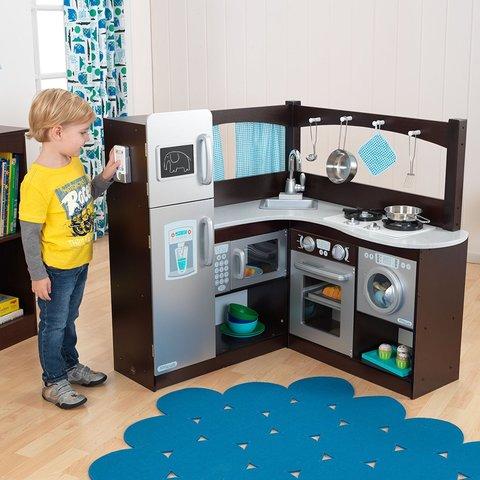 KidKraft Эспрессо уголок - угловая детская кухня 53302_KE