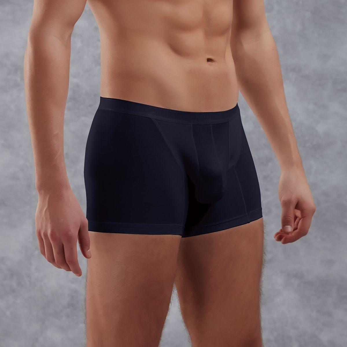 Мужское белье: Боксеры из полупрозрачной хлопково-модальной ткани
