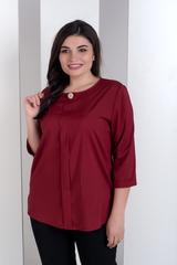 Лиза. Стильная блуза больших размеров. Бордо