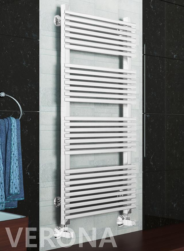 Verona E -  электрический дизайн полотенцесушитель белого цвета