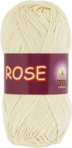 1 моток: пряжа Rose (Vita cotton) 3950 Экрю