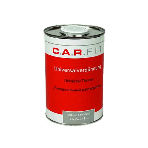 Вспомогальные жидкости Разбавитель CAR FIT универсальный для красок, лаков, грунтов, металлическая банка 1л 76001000.jpg