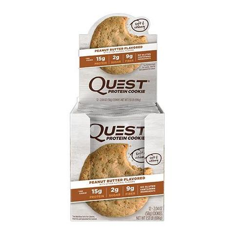Quest Nutrition Peanut Butter Cookie 60гр (12 шт) Протеиновое Печенье с Арахисовой Пастой без сахара