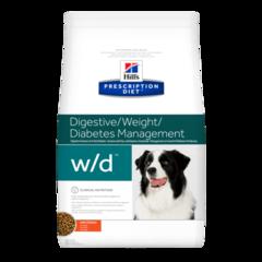 Ветеринарный корм для собак Hill`s Prescription Diet w/d, при диабете/контроль веса, с курицей