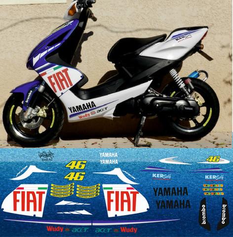 Набор виниловых наклеек на мотоцикл YAMAHA AEROX FIAT