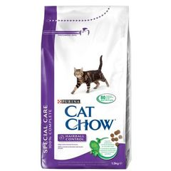 Cat Chow Hairball Control для взрослых кошек для контроля образования комков шерсти, птица