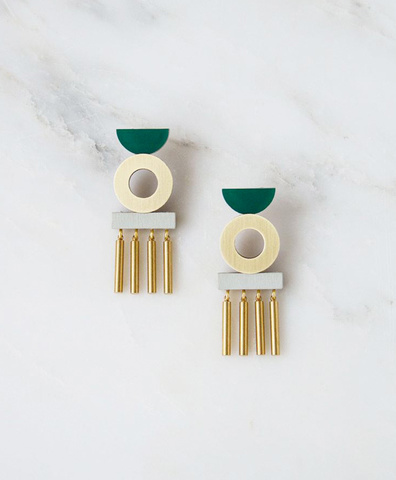 Серьги Memento Earrings Green
